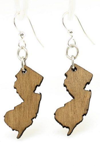 New Jersey shape earrings