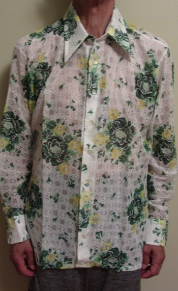 70s disco shirts Floral