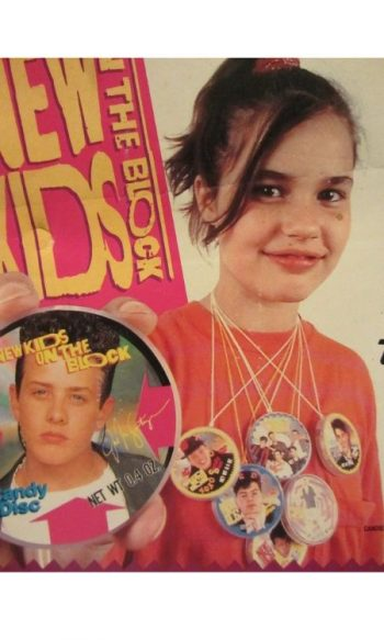 New Kids On the Block merchandise candy discs necklaces