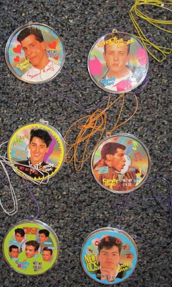 New Kids on the Block merchandise candy disc necklaces