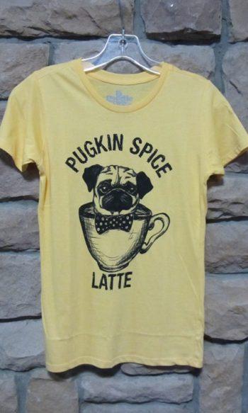 Pug Tee shirt Pugskin spice latte