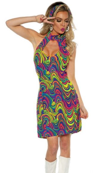 Black light dress to match black light shirts