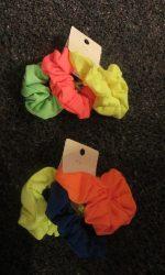 Neon scrunchies 80s scrunchies