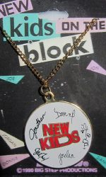 New Kids on the Block 1990 necklace NKOTB pendant