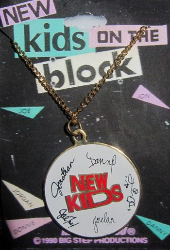 New Kids on the Block 1990 necklace NKOTB pendant