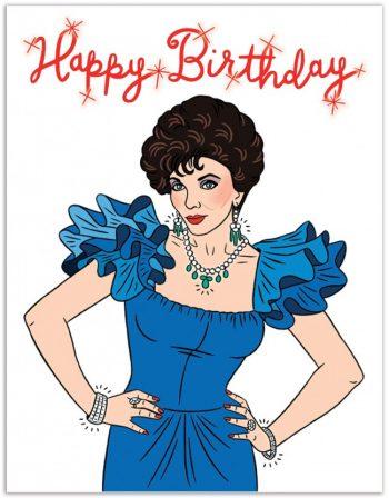 Unique birthday cards Dynasty Joan Collins