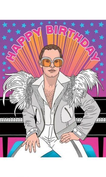 Unique birthday cards Elton John