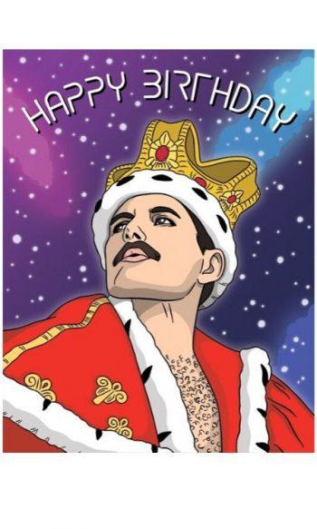 Unique birthday cards Freddie Mercury
