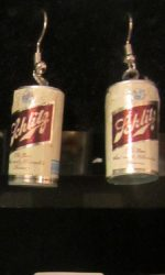 Vintage beer can earring Schlitz