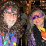 Mardi Gras celebration happy hour