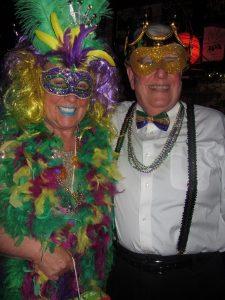 Mardi Gras celebration ball
