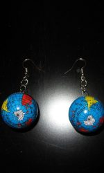 Globe earrings Earth earrings