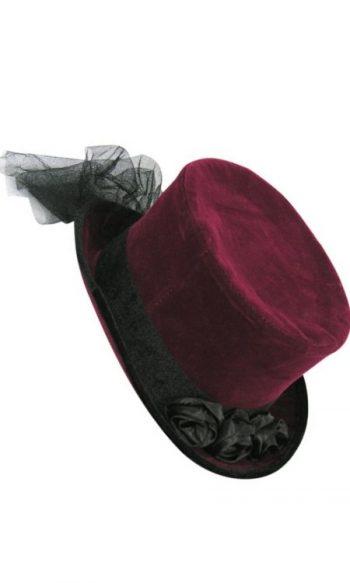 Gothic top hat velvet top hat