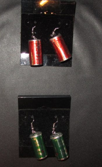 Coke can earrings 7up can earrings