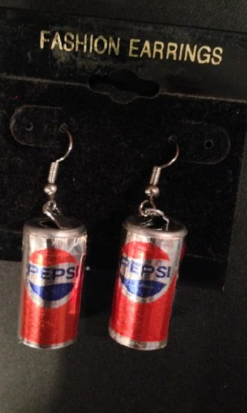 Pepsi cans earrings Soda pop earrings