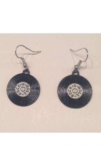 Rock n Roll rock earrings record earrings