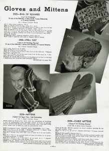 easy to knit 1940's gloves and mittens