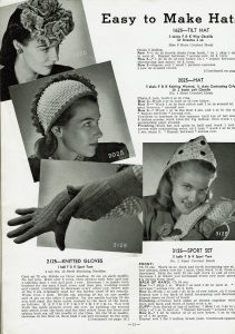 Easy to knit 1940's hats