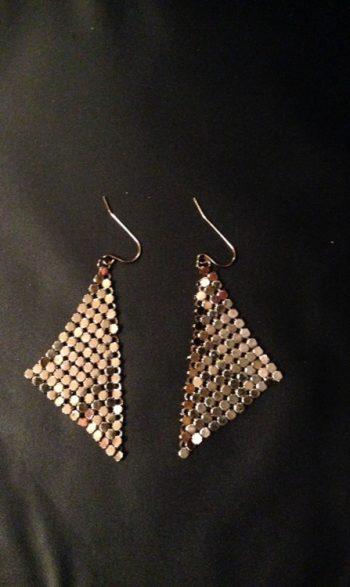 Disco mesh earrings