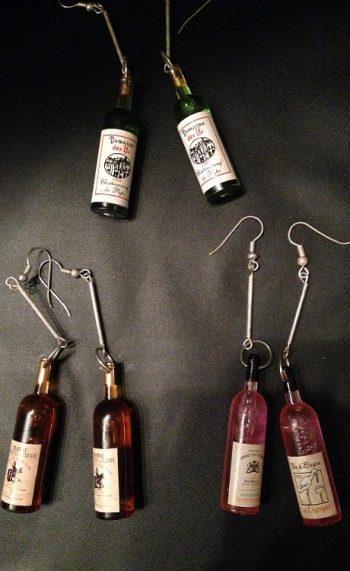 Wine earrings wine bottles