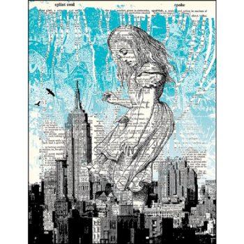 Alice in New York city dictionary print