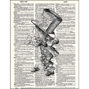 Mad hatter dictionary print