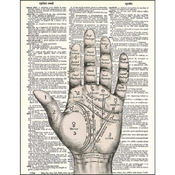 palm reader dictionary print