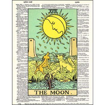 Tarot moon dictionary print