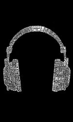 Headphones graphic t-shirt Music genres